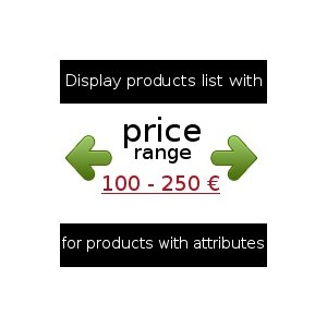Product price range (max and min prices)